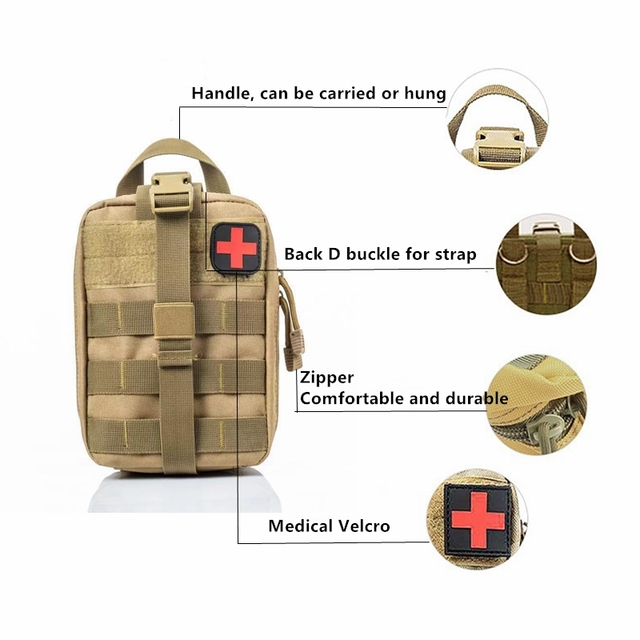 Molle Tactical First Aid Kits Medical Bag Emergency Outdoor Army Hunting Car Emergency Camping Survival Tool Military EDC Pouch 5