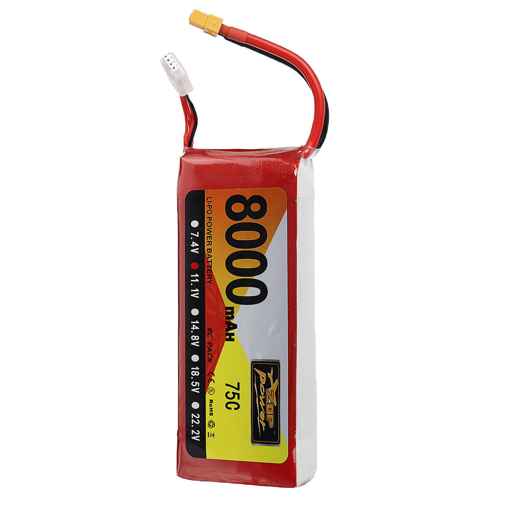 ZOP Power 11.1V <font><b>8000mAh</b></font> 75C <font><b>3S</b></font> <font><b>Lipo</b></font> Battery XT60 Plug For RC Model RC FPV Drone Airplane Helicopter Car Boat image