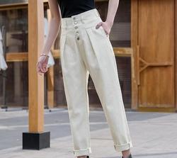 Женские джинсы maa1, повседневные свободные джинсы с высокой талией, KS083-02-15, весна 2020