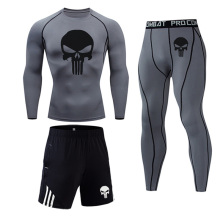 High quality Thermal underwear Men's suit MMA rashguard male