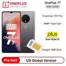 Предварительная продажа глобальная версия OnePlus 7 T 7 T Snapdragon 855 Plus смартфон с восьмиядерным процессором 6,55 90 Гц AMOLED экраном 48 МП Тройная камера
