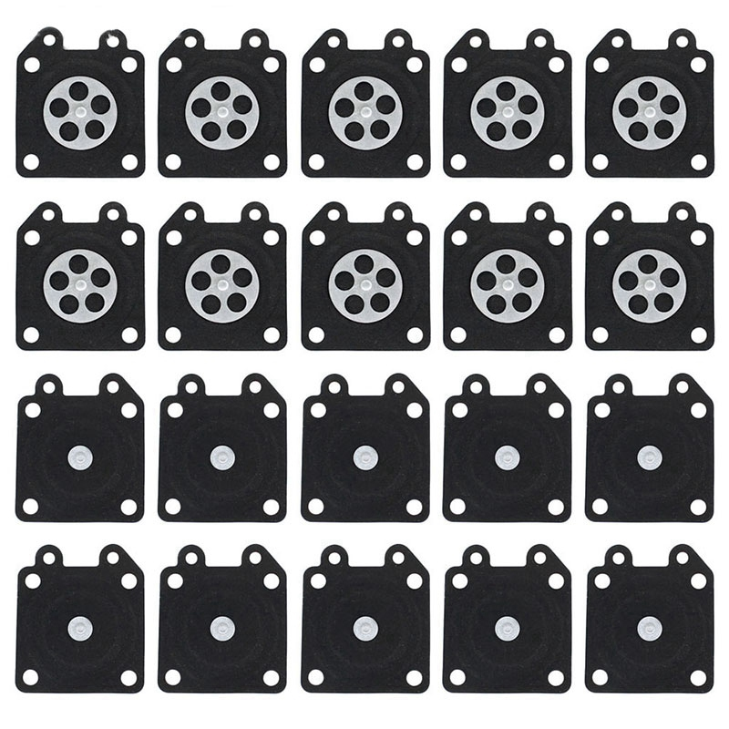 Top-20Pcs 2500 3800 4500 5200 5800 Chainsaw Carburetor Repair Parts Metering Diaphragm Gaskets