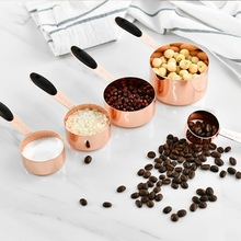 5PCS Measuring Spoons Set Stainless Steel Household Rose Gold For Kitchen DIY Baking Tools Various Sizes