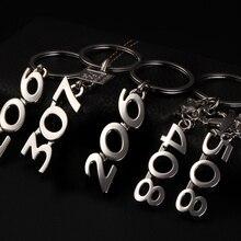 3D Metal Car Logo Keychain Keyring For Peugeot 307 408 Auto Key Chain Rings Holder For Peugeot 307 408