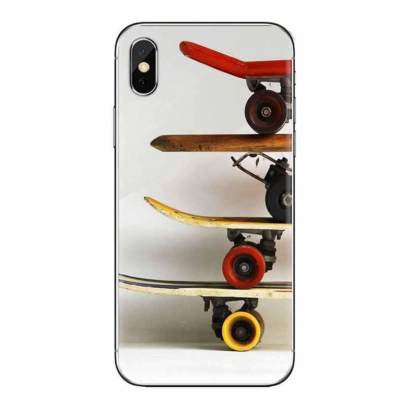 Pour Xiao mi mi 6 mi 6 A1 Max mi x 2 5X 6X rouge mi Note 5 5A 4X 4A A4 4 3 Plus Pro coque en Silicone Skateboarding Skateboard