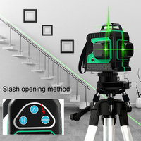 8 Lines High precision Automatic Laser Level Waterproof Self Leveling Green Beam Cross Line Lasers for Tile Ceiling Floor Wall