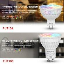 Miboxer 4 Вт RGB+ CCT Светодиодный прожектор FUT103 GU10 FUT104 MR16 Светодиодный светильник для спальни ресторана гостиной повара комнаты освещения