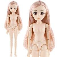 42 см Bjd кукла 24 шаровая шарнирная кукла DIY обнаженное тело вьющиеся прямые волосы подарок для девочки с 3D глазами голова куклы игрушки для де...