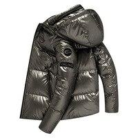 Men's winter jacket Thicken warm coat Korean parkas 90% white duck down high quality Waterproof and Windproof coat 2019