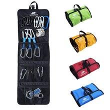 цена на Folding Rock Climbing Arborist Caving Quickdraw Sling Carabiner Hook Gear Equipment Collection Gear Storage Bag