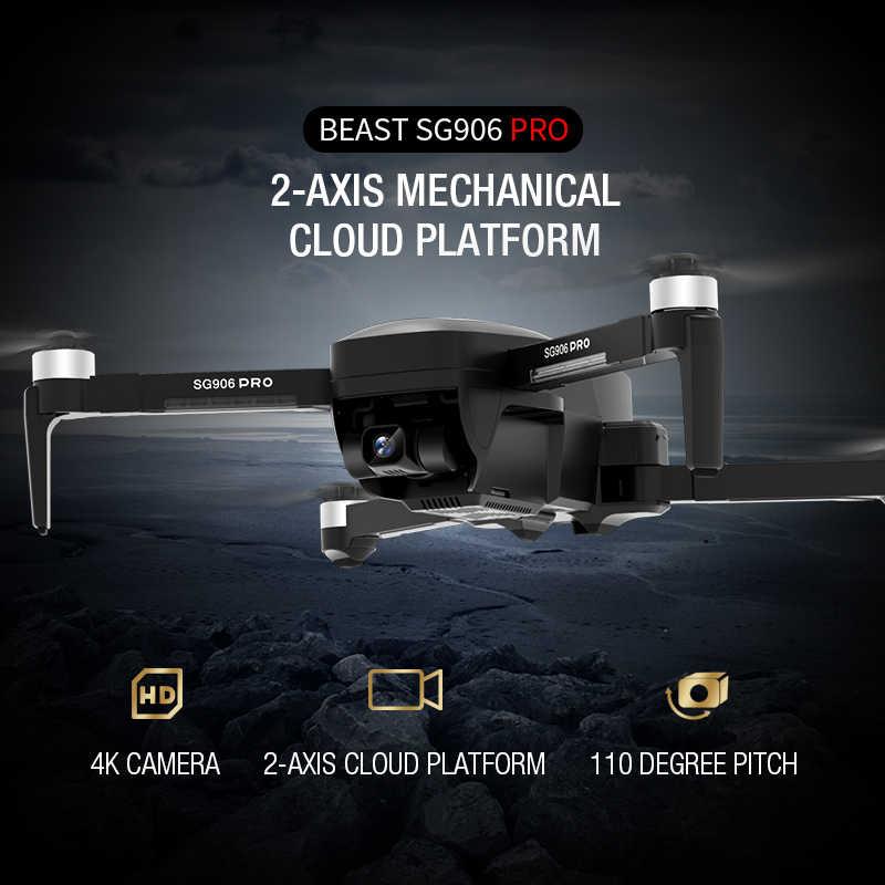 ZLRC SG906 プロ Gps ドローン 2 軸手ぶれ補正自己安定化とジンバル Wifi FPV 4 18K カメラブラシレス Quadcopter VS F11 禅 K1