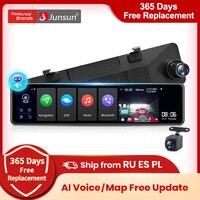 Junsun A104 AI Voice Control Triple Screen 4G Android 8.1 Car specchietto retrovisore telecamera 12