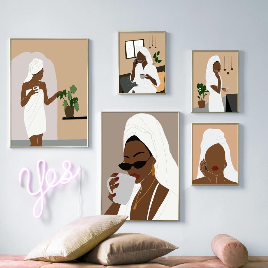 Abstract Boho Woman Wall Art