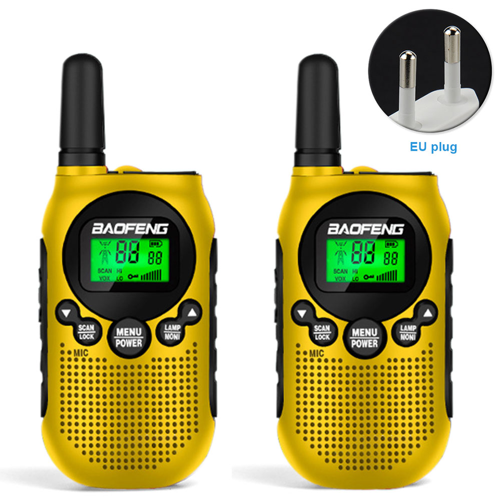 2pcs Adventures 2 Way Radio Communication Kid Walkie Talkie Ergonomic Long Distance Noise Reduction 16 Channel Mini Rechargeable