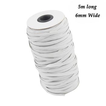 6mm szerokość 5 metrów długi elastyczny przewód do szycia odzieży biała guma gumka taśma termotransferowa liny dodatki do odzieży tanie i dobre opinie 100 polyester yarn (or polypropylene yarn) 6mm width 5M Length elastic band sewing elastic for sewing elastic band for sewing