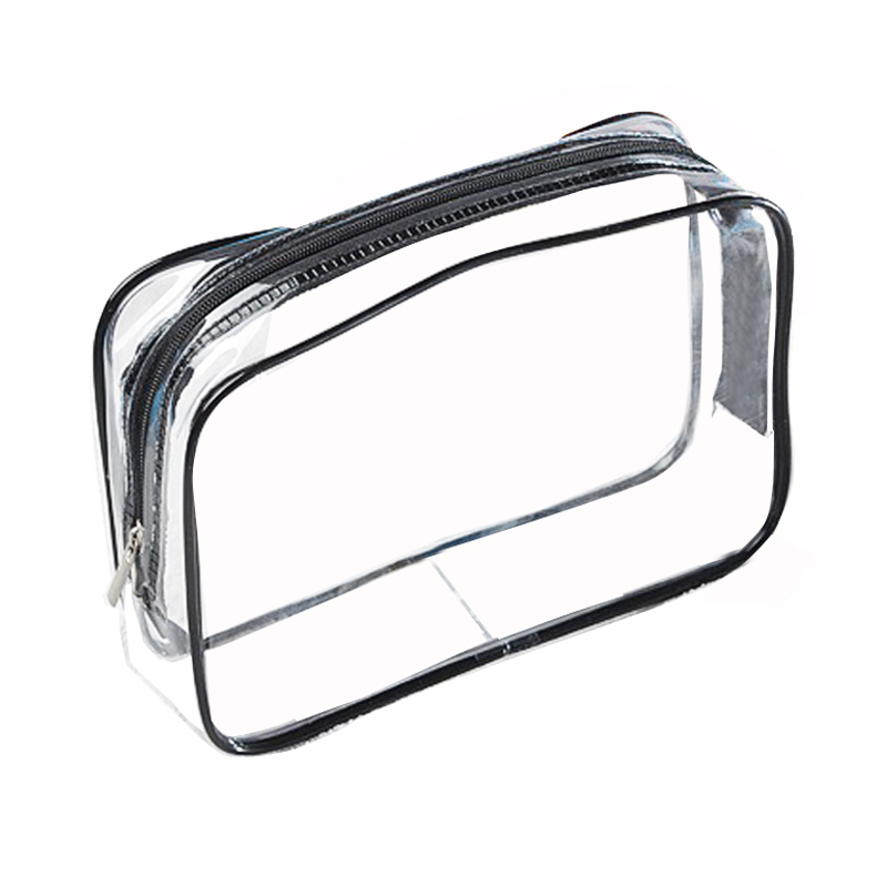 Fashion PVC Transparent Cosmetic Bag Travel Clear Waterproof Wash Toiletry Bags Men Women Makeup Organizer Bag Pouch Case