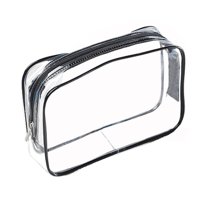 Fashion PVC Transparent Cosmetic Bag Travel Clear Waterproof Wash Toiletry Bags Men Women Makeup Organizer Bag Pouch Case