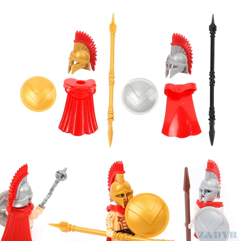 21PCS Medieval Castle Milan Visor Helmet Shield Crusaders Building Block DIY Toy