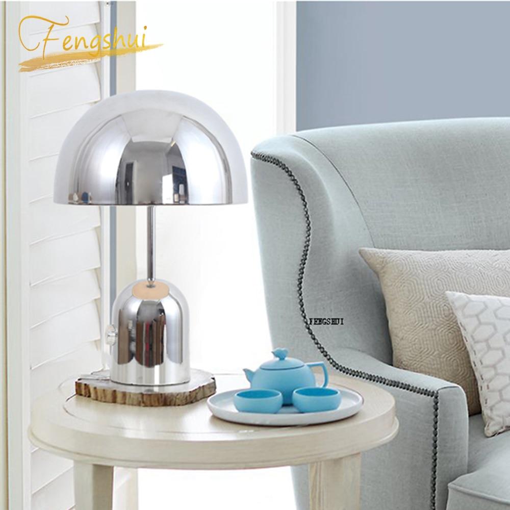 Modern metal mushroom LED table lamp bedroom bedside living room Indoor decorations table lights lighting desk lamp stand lamp|LED Table Lamps| |  - title=