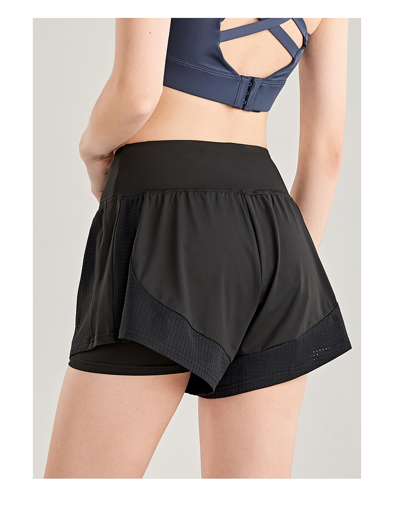 Shorts Women Workout Shorts High Waisted Running Shorts Double Layer Quick-drying Athletic Yoga Shorts Fitness Shorts (4)