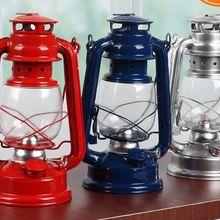 Retro nostálgico portátil linterna keroseno creativo artesanía regalos aceite luces lámpara hogar exterior noche luces lámpara