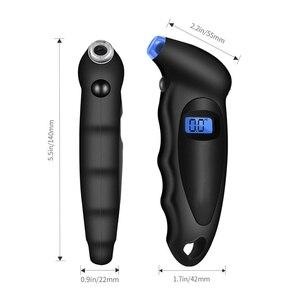Image 4 - مقياس ضغط الهواء للإطارات والسيارات ، مقياس رقمي مع شاشة LCD ، مقياس الضغط ، مقياس الضغط ، مقياس الضغط ، للسيارة ، الشاحنة ، الدراجة النارية ، 150 PSI