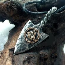 Gioielli da uomo Vintage in acciaio inossidabile 316L Nordic Viking Odin #8217 s arma lancia pendente collana Rune amuleto gioielli cheap STAINLESS STEEL Unisex Collane del pendente CN (Origine) Annata Metallo GEOMETRIC Partito Di modo 1024 silver Golden 316L stainless steel