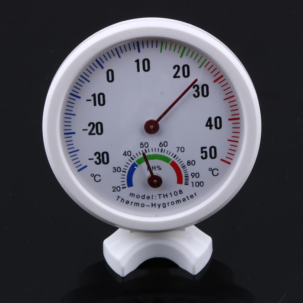 Mini Thermometer Hygrometer Bell-Vormige Lcd Digitale Schaal Voor Thuis Kantoor Muur Promotie Mount Indoor Temperatuur Meet Gereedschap 1