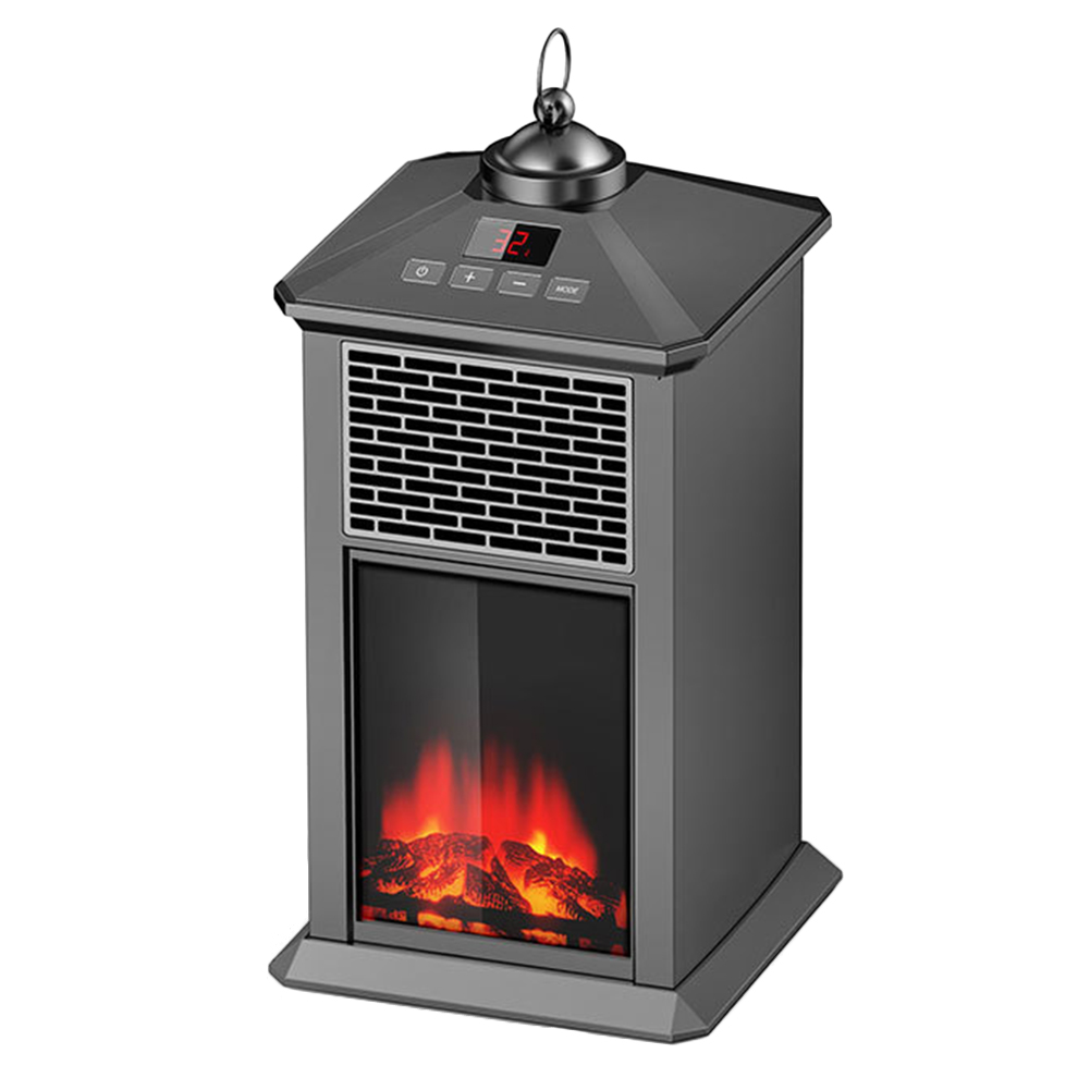 Portable Fireplace Electric Heater 800W With Adjustable Thermostat Overheat Protection _WK