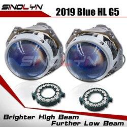 Bi-xenon Headlight Lenses HID Projector Upgrade 3.0'' For Hella 3R G5 5 Blue Film Lens Auto Car Accessories Retrofit D1S D2S D3S