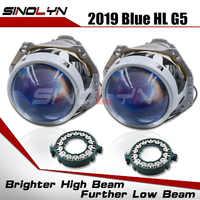 Lentes de faro bi-xenon, actualización de proyector HID de 3,0 pulgadas para Hella 3R G5 5, accesorios para automóvil con película Azul, reacondicionamiento D1S D2S D3S