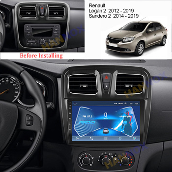 For Renault Logan 2 2012 - 2019 Dacia Sandero 2 2014 - 2019 Car Radio Multimedia Video Player Navigation GPS Android 2 din dvd image