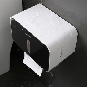 Image 3 - Waterproof Toilet Paper Holder Wall Mounted Toilet Tissue Dispenser Plastic Multi function Portable Toilet Roll Holder Stand