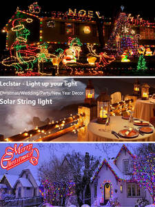 Outdoor Lighting Patio-String Solar Garland Christmas-Party Home-Decor Waterproof LED