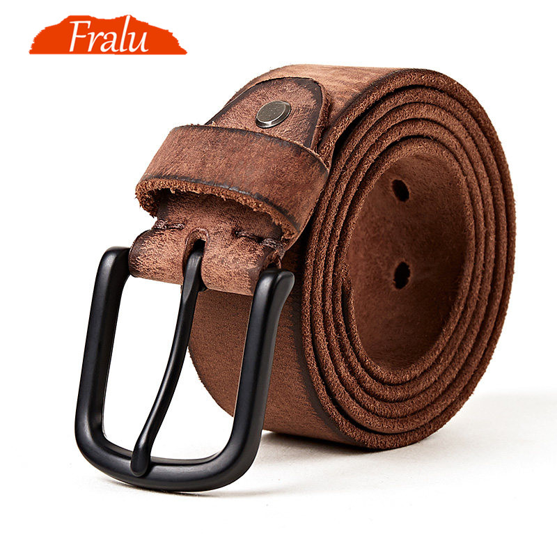 FRALU Men High Quality Genuine Leather Belt Luxury Designer Belts Men Cowskin Fashion Strap Male Jeans For Man Cinturon Hombre