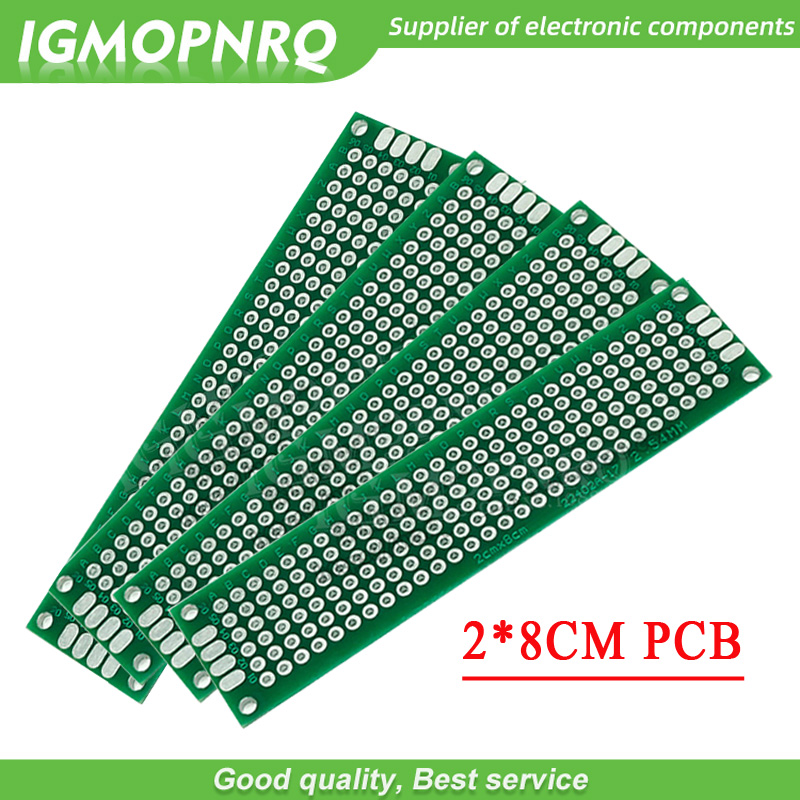 5pcs  2x8cm 2*8 Double Side Prototype PCB Diy Universal Printed Circuit Board