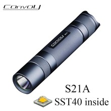 High Powerful Flashlight Convoy S21A with SST40 Led Inside Light 21700 Torch Flash Light 2300lm Linterna Led Camping Work Lamp