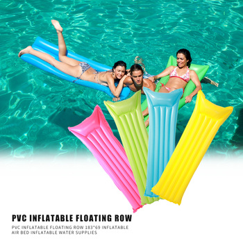 Swimming Pool INFLATABLE Lounger Water hammock Air Bed Mattress Float Blow Up inflatable air cushion floating bed 183x69cm image