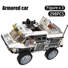 298PCS Military Car Vehicle Weapon Sets Building Blocks WW2 Army Panzer Chinoook Brick DIY Toy Children Boy Gift