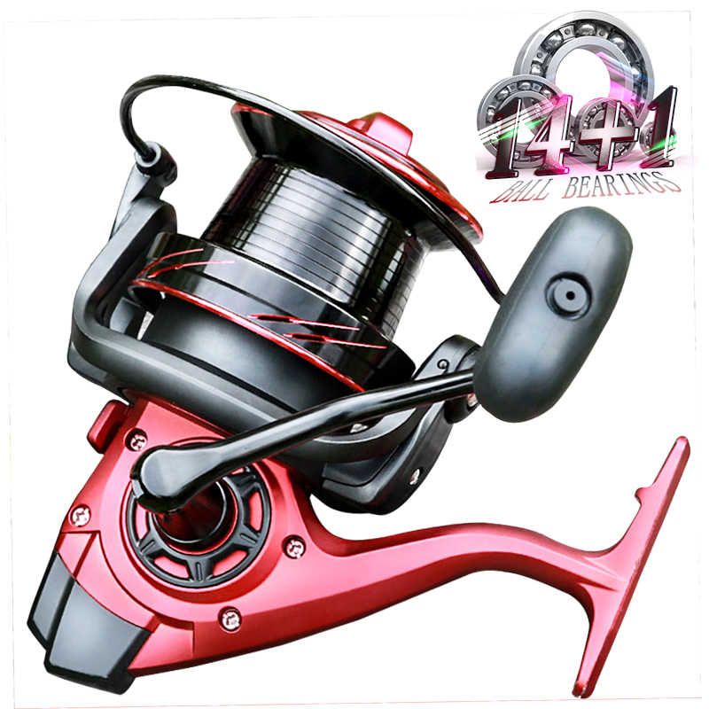 Spinning Reel 9000/10000/12000 Serie 14 + 1BB Rvs Grote Zoutwatervissen Reel Voor Surf Casting Long Shot boot Fihisng