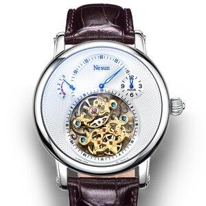 Image 1 - Switzerland Luxury Brand Nesun Hollow Tourbillon Watch Men Automatic Mechanical Mens Watches Sapphire Waterproof clock N9081 4