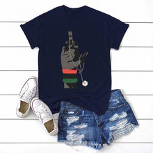 Sunflower Lgbt Gift Creativity Print Short Sleeve T Shirts Women Fashion Hip Hop T-shirts Female Cotton Casual Tees For Women(China)