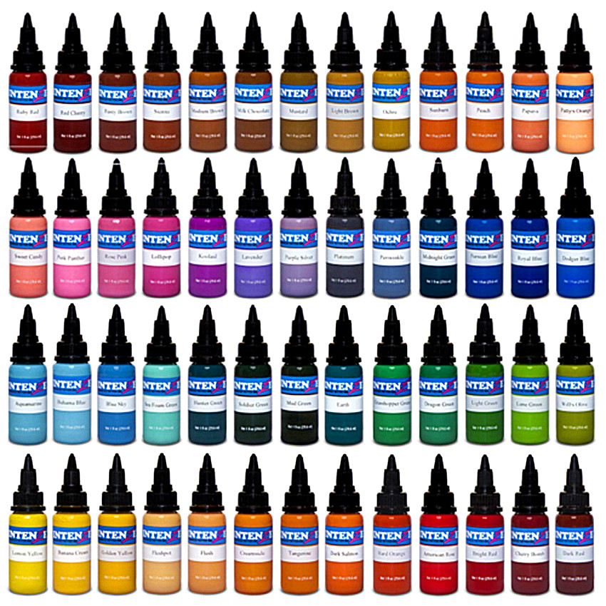 INTENZE-30ml/bottle Tattoo Ink Set Microblading Permanent Makeup Pigment 14 Colors Tattoo & Body Painting Ink For Tattoo