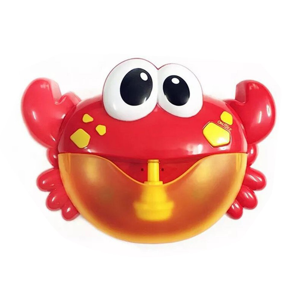 Hot! Bubble Machine Big Crab Automatic Bubble Maker Blower Music Bath Toy For Baby Outwearing Classic Toy Gift For Kids Children