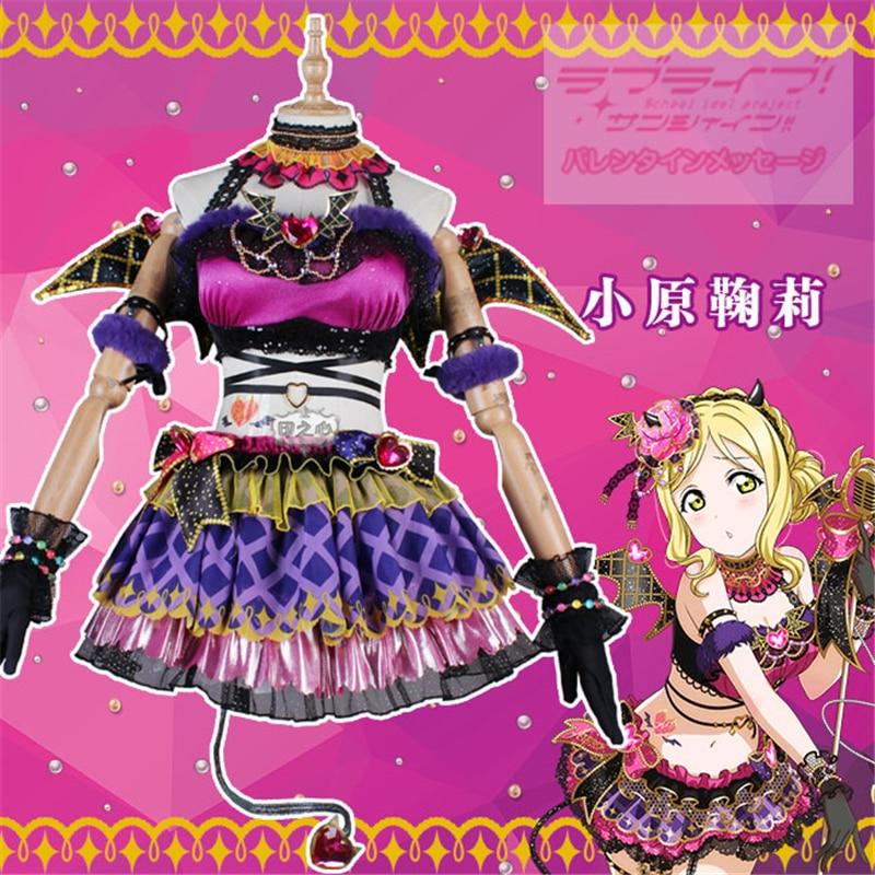 Anime Cosplay Costume Love Live Sunshine Aqours Little Devil Mari Ohara Dress Christmas Costumes Wing A