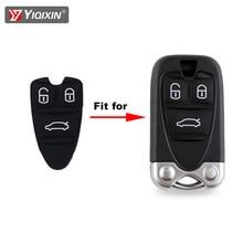 Yiqixin para alfa romeo 159 brera 156 aranha 3 botão do carro chave escudo de borracha silicone substituição cartão inteligente reparação couro