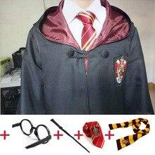Косплэй костюмы робы накидка с шарфом палочка очки Гриффиндор равенклав, хуфлепуф, накидка факультета Слизерин Харрис костюм