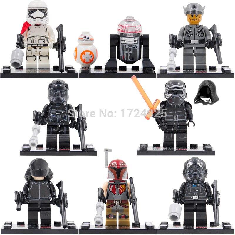 Single Sale Dargo 867 The Force Awakens Ren BB-8 TIE Pilot Building Block Set Models Toys Figure Legoing