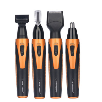 4 in 1 Electric Ear Nose Trimmer Men Portable Face Neck Hair Removal Rechargeable Beard Eyebrow Trimer Shaver Razor Face Care 53 men s shaver ear nose trimmer r sideburns battery powered beard face eyebrow hair trimmer removal for men women