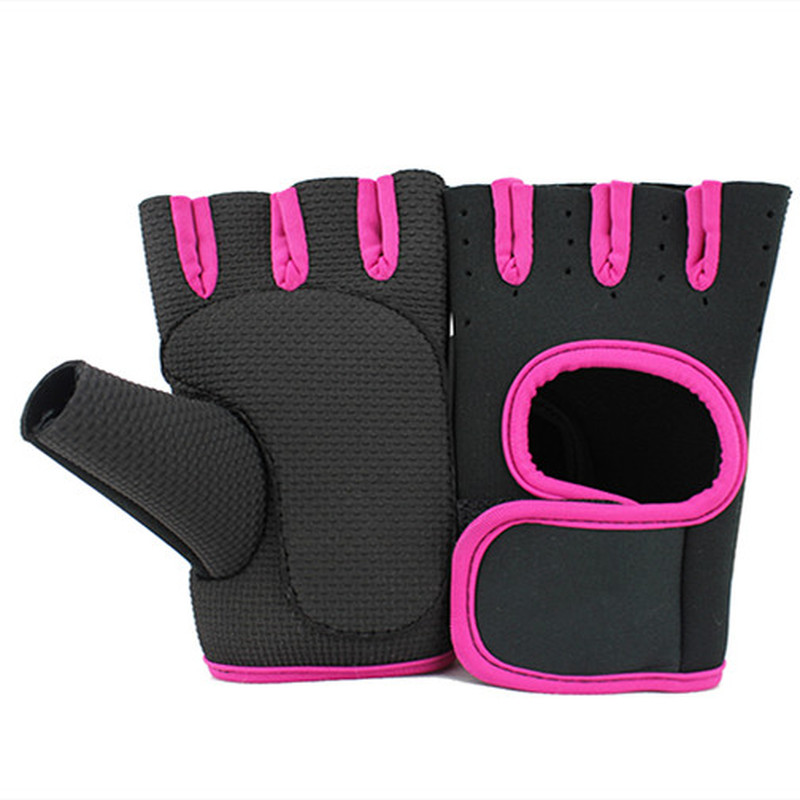 Gloves Weight-Lifting-Gloves Fitness Gym Exercise Training Half-Finger Sports Women 1-Pair